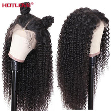 Load image into Gallery viewer, Brazilian Hair Kinky Curly Lace Part Human Hair Wigs 13x1 Lace Front Hair Wigs with Baby Hair Pre Plucked Remy Hair 150% Density