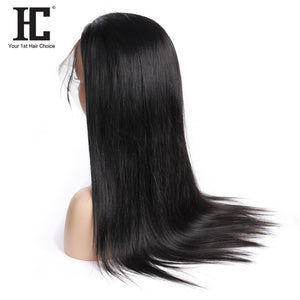 Lace Front Human Hair Wigs Brazilian Straight 150% Density 13x4 Lace Front Wig Pre Plucked With Baby Hair Remy Middle Part Wig