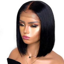 Load image into Gallery viewer, Aircabin Straight Bob 13x6 HD Type T Lace Front Closure Wigs Brazilian Remy Human Hair 8-16 Inch Short Lace Wigs For Women
