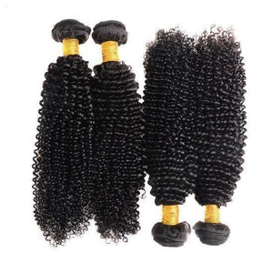 10A Grade Peruvian Human Hair Extension Kinky Curly Bundles with