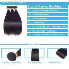 Load image into Gallery viewer, BeuMax Hairs 9A Grade Brazilian Human Hair Extension Straight Hair