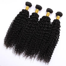 Load image into Gallery viewer, 10A Grade Peruvian Human Hair Extension Kinky Curly Bundles with