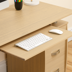 Otley 3 Drawer Computer Desk, Pine