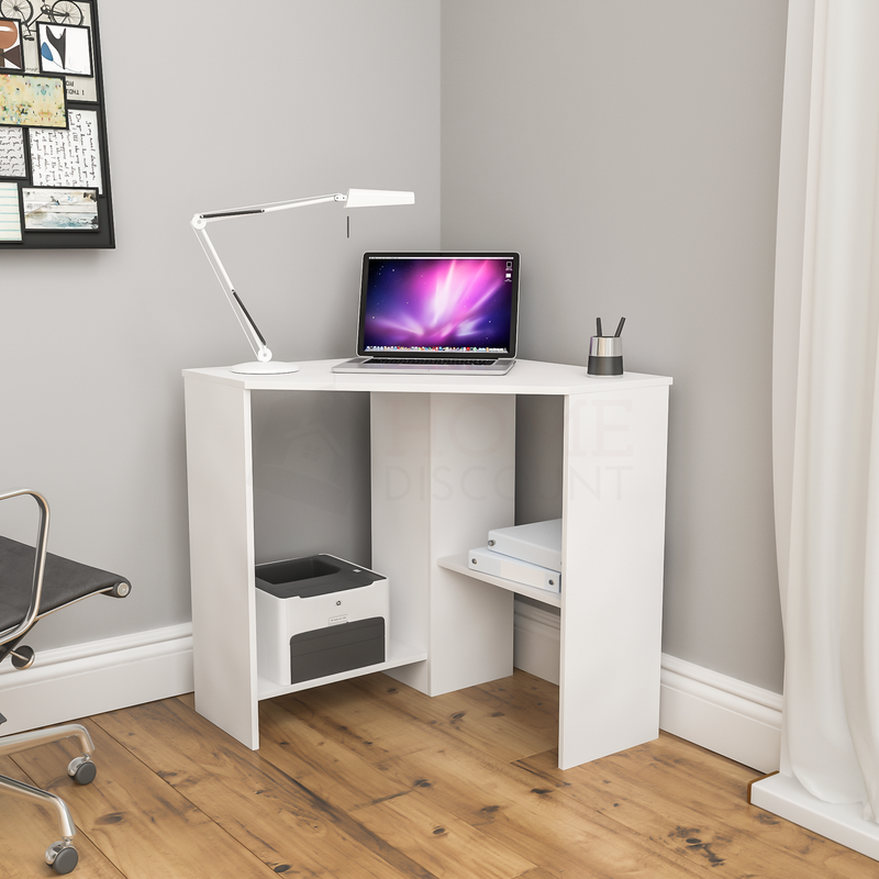 Hetton Corner Computer Desk, White