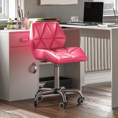 Geo Office Chair, Pink