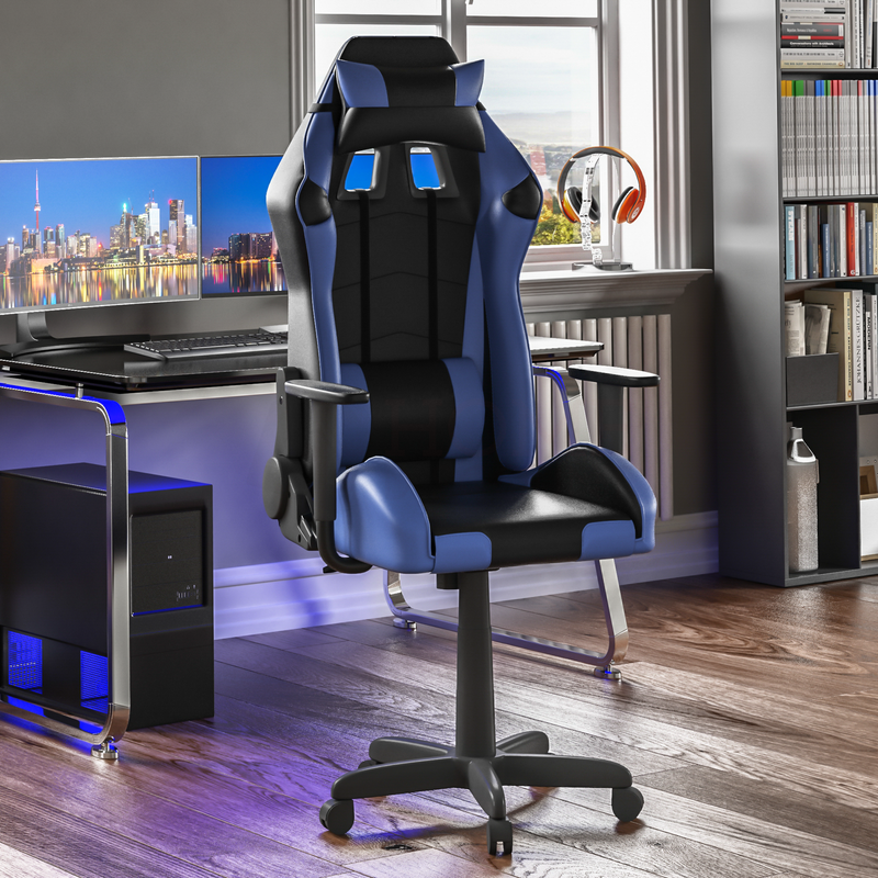 Nitro Racing Gaming Chair, Blue & Black
