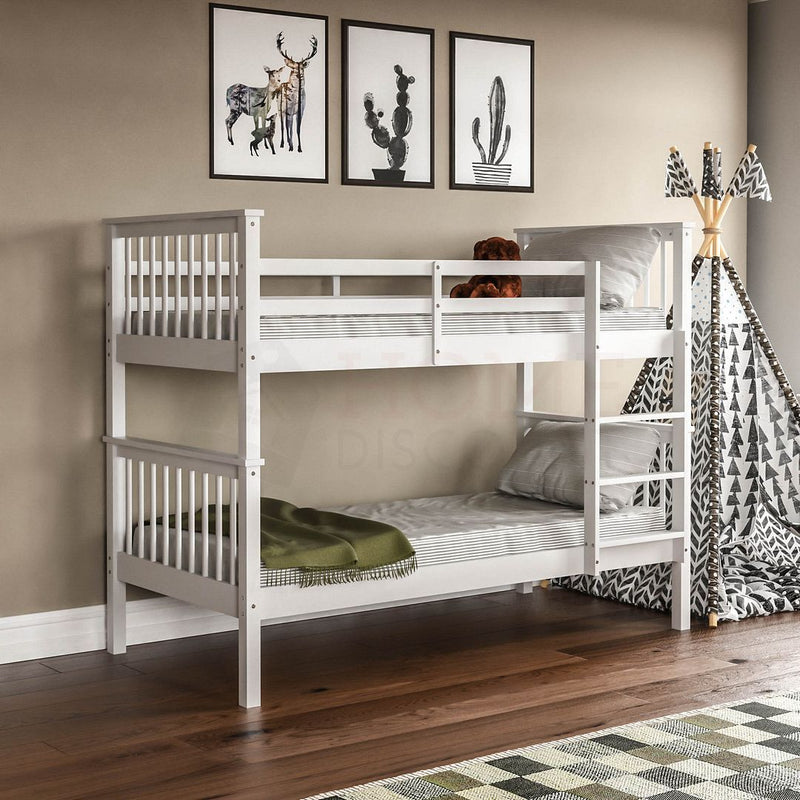 Milan Bunk Bed, White