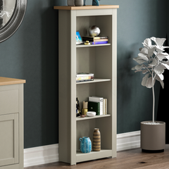 Arlington 4 Tier Bookcase, Grey