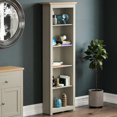 Arlington 5 Tier Bookcase, Grey