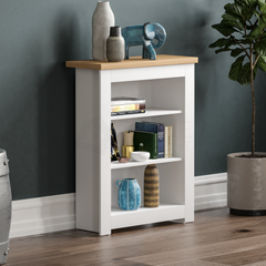 Arlington 3 Tier Bookcase, White