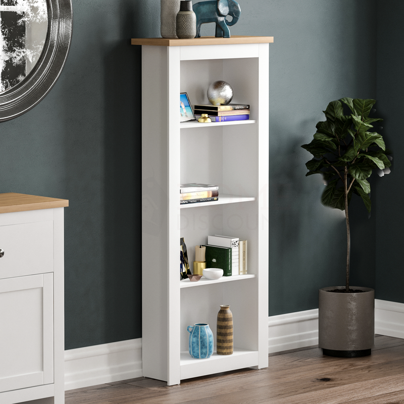 Arlington 4 Tier Bookcase, White