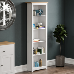 Arlington 5 Tier Bookcase, White