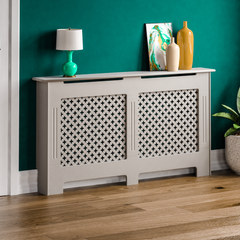 Oxford Radiator Cover Grey, Large