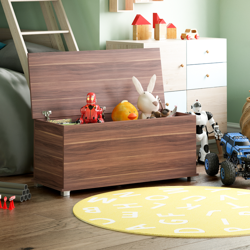 Vida Designs Leon Toy Box, Walnut