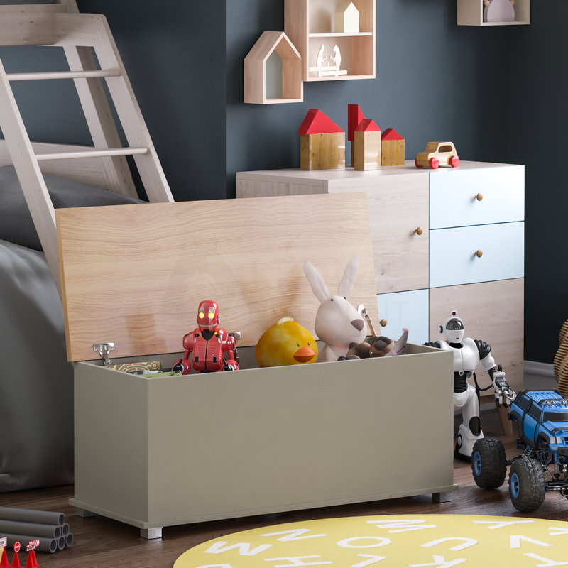 Arlington Toy Box, Grey