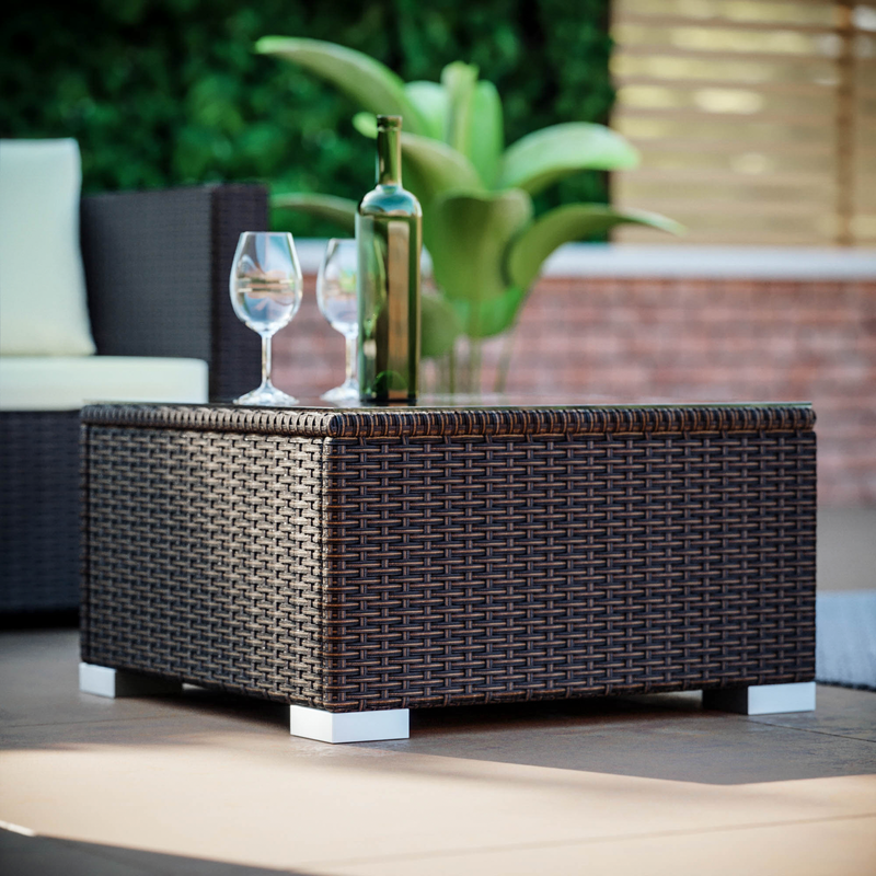 Malta 5 Seater Corner Rattan Set, Brown