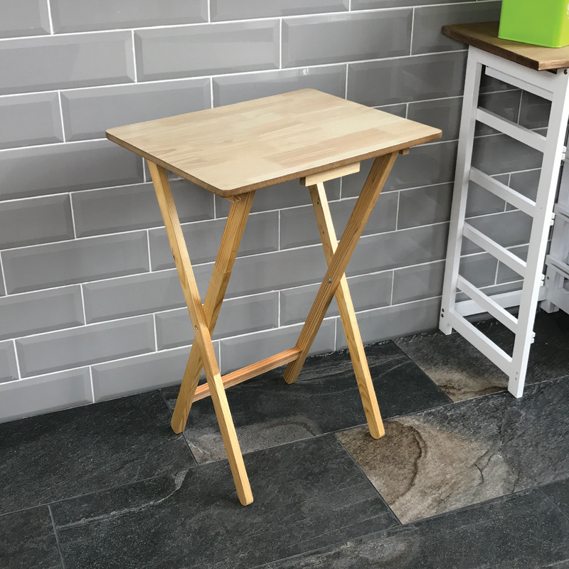 Folding Snack Table, Natural