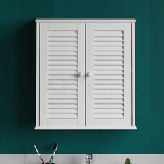 Liano 2 Door Wall Cabinet, White