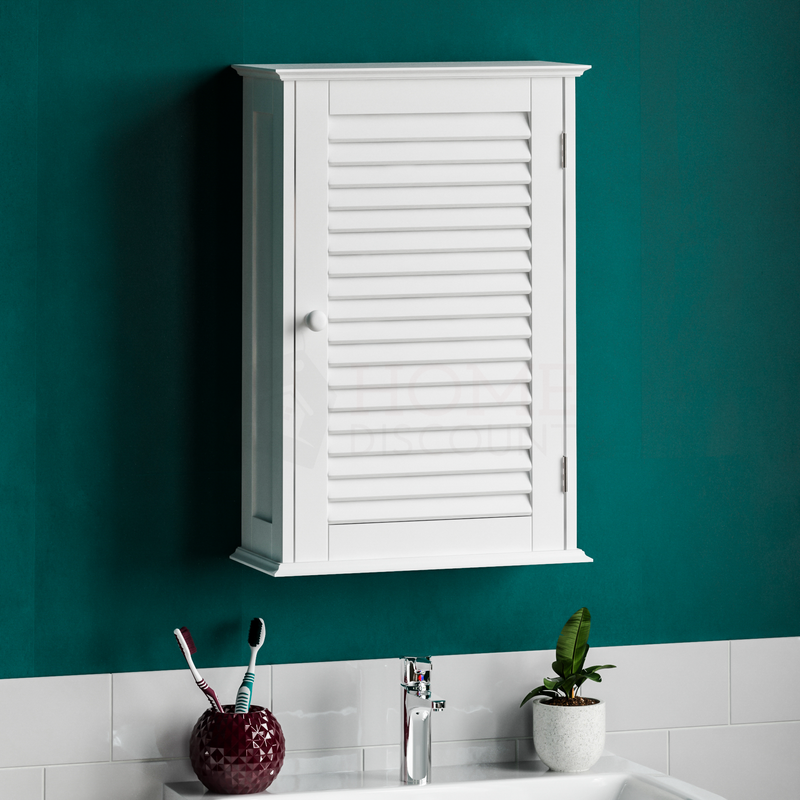 Liano 1 Door Wall Cabinet, White