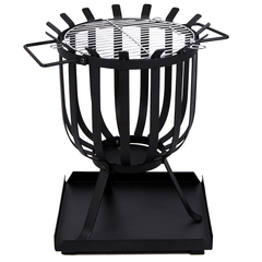Steel Brazier Black, Square