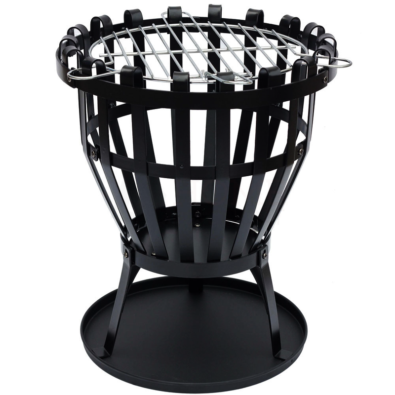 Steel Brazier Black, Round