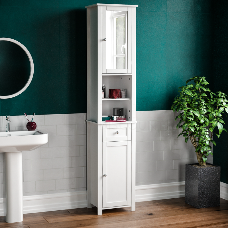 Priano 2 Door Tall Cabinet With Mirror