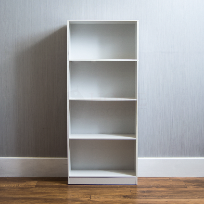 Cambridge 4 Tier Large Bookcase, White