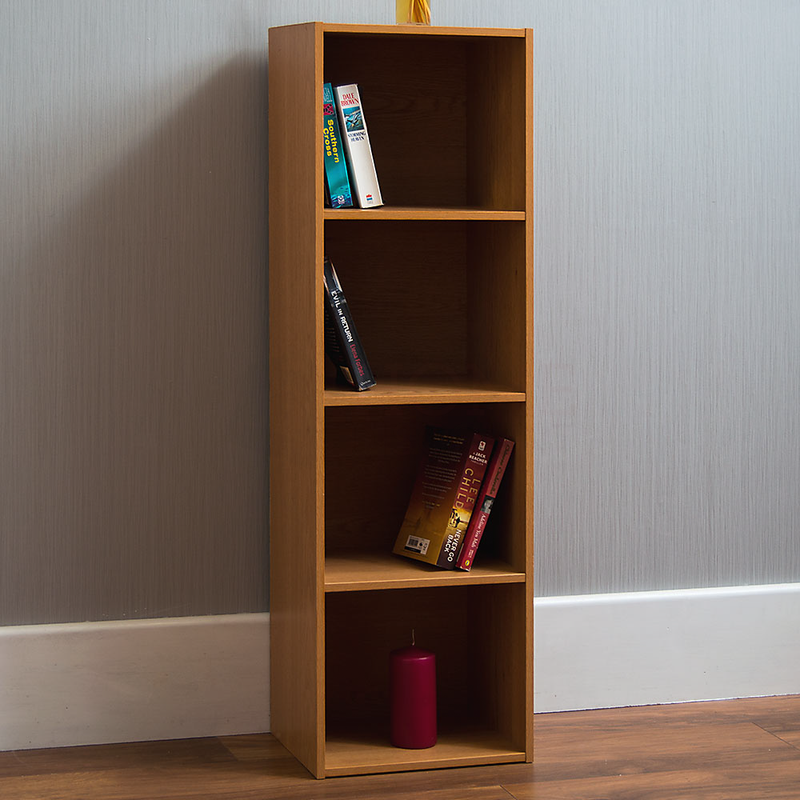 Oxford 4 Tier Cube Bookcase, Oak