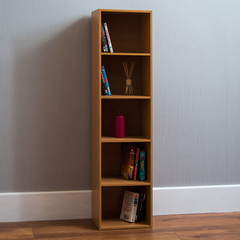 Oxford 5 Tier Cube Bookcase, Oak