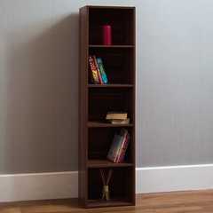 Oxford 5 Tier Cube Bookcase, Walnut