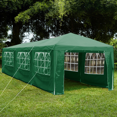 Gazebo With Sides 3x9m, Green