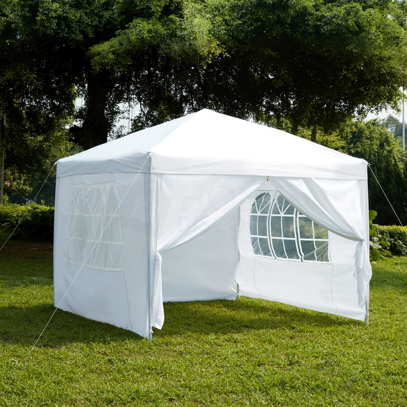 Pop Up Gazebo With Sides 2.5x2.5m, White