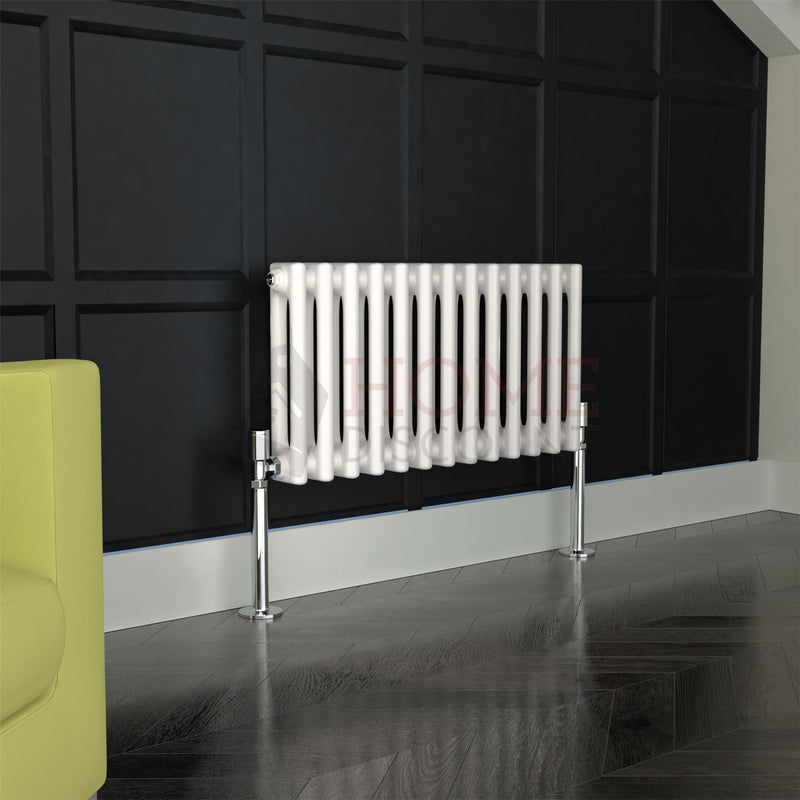 Verona Round 2 Column Traditional Radiator, 30 x 58, White