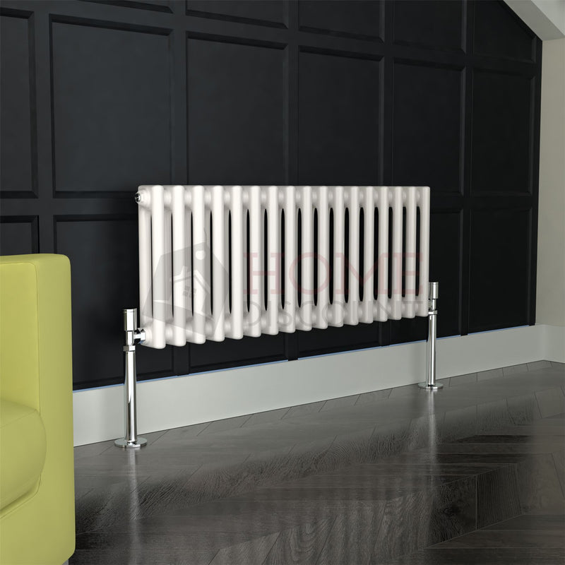 Verona Round 2 Column Traditional Radiator, 30 x 76, White