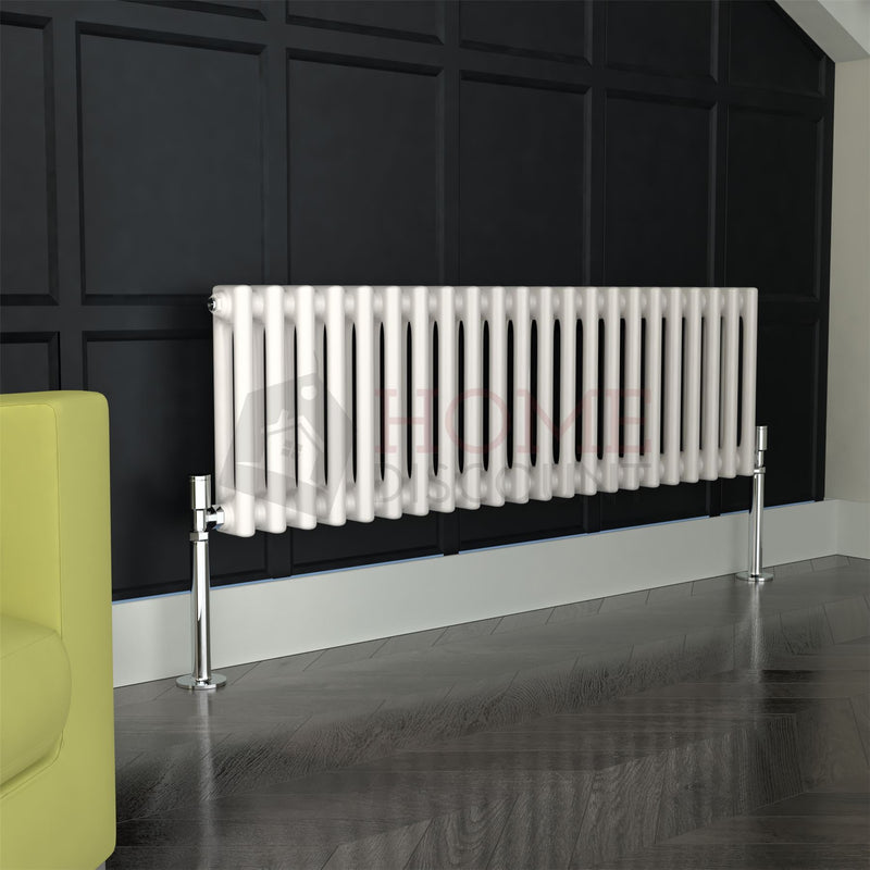 Verona Round 2 Column Traditional Radiator, 30 x 99, White