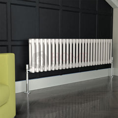Verona Round 2 Column Traditional Radiator, 30 x 117, White