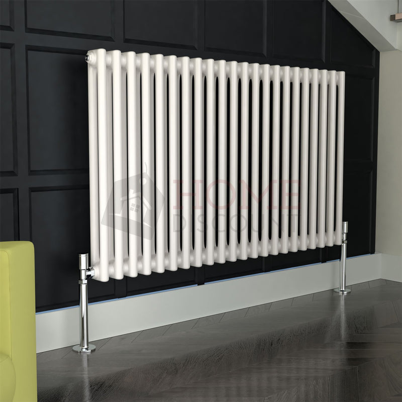 Verona Round 2 Column Traditional Radiator, 60 x 99, White