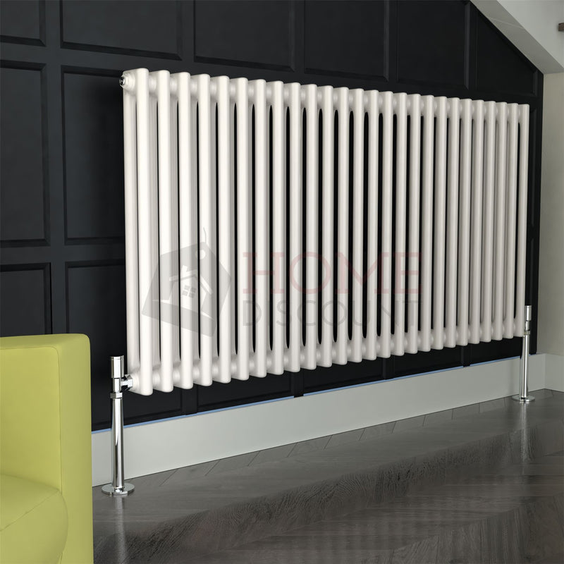 Verona Round 2 Column Traditional Radiator, 60 x 117, White