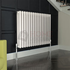 Verona Round 3 Column Traditional Radiator, 60 x 76, White