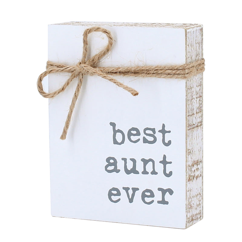 CA-3749 - Aunt Jute Block Sign