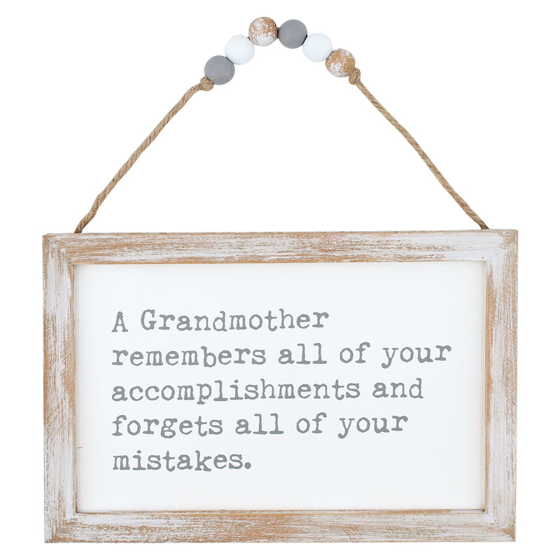 CA-3752 - Forgets Mistakes Beaded Sign