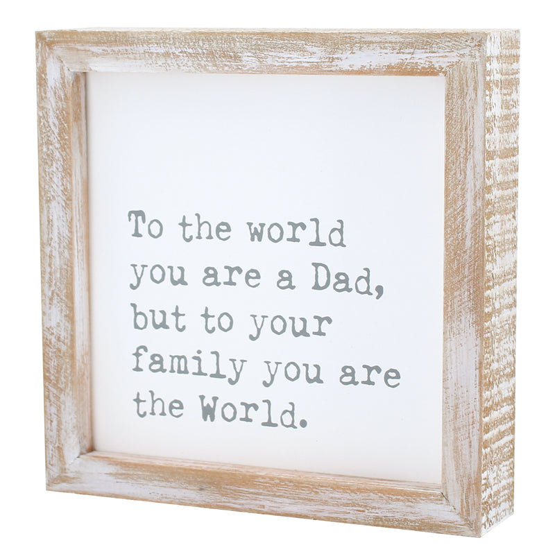 CA-3757 - The World Dad Framed Sign