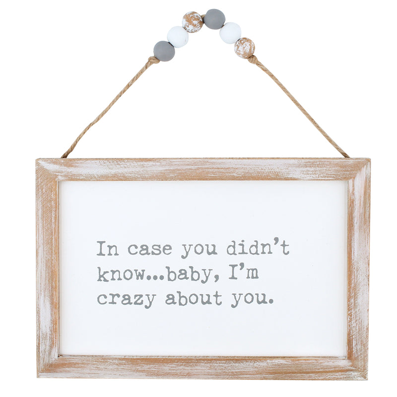 CA-3783 - I'm Crazy Beaded Hanging Sign