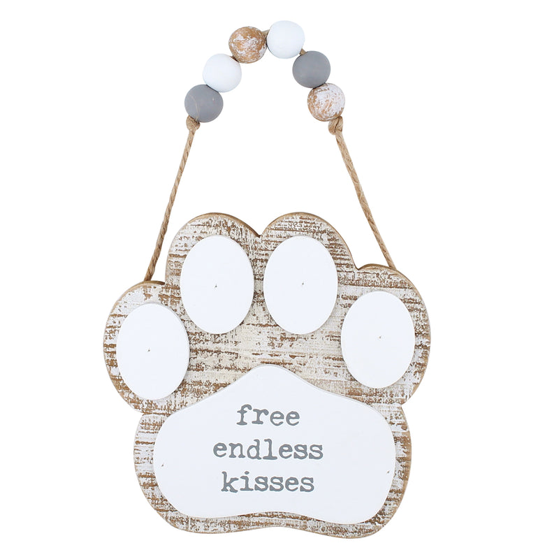 CA-3813 - Free Kisses 3D Paw w/ Beads