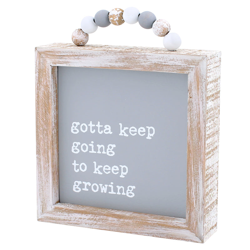 CA-3819 - Keep Going Framed Sign w/ Beads