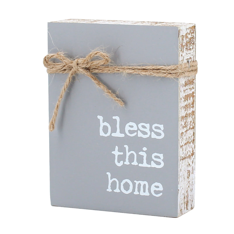 CA-3829 - Bless Home Jute Block Sign