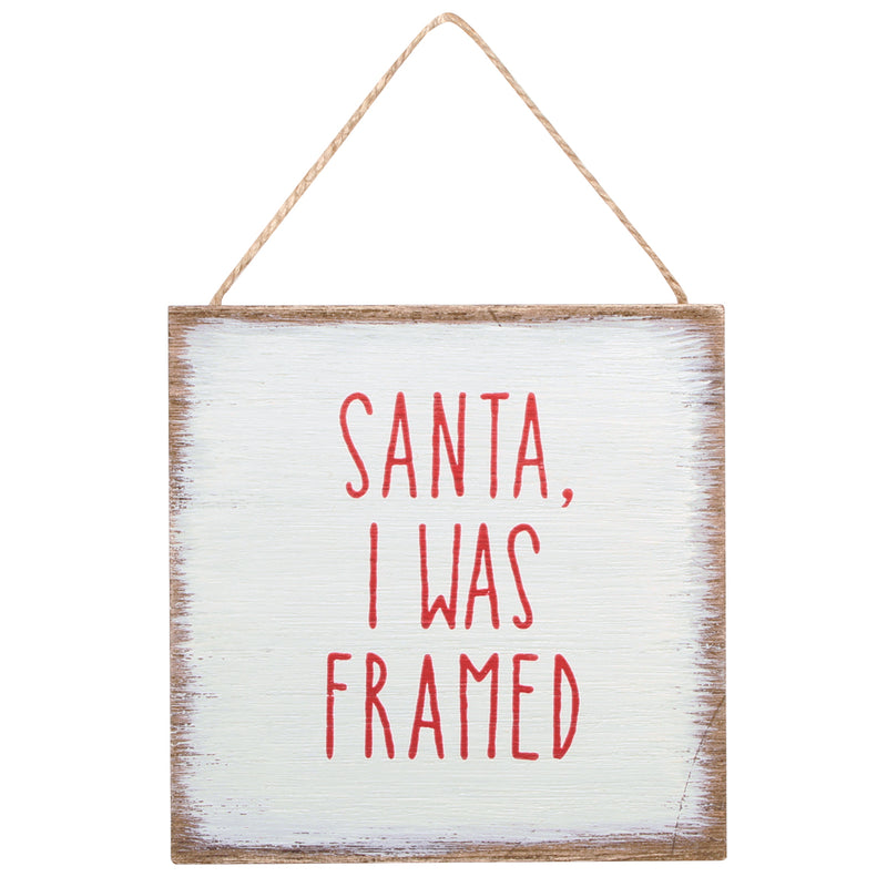CA-3963 - I Was Framed Wood Ornie