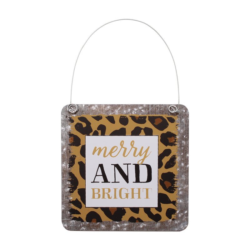 CA-3985 - Bright Cheetah Tin Ornie