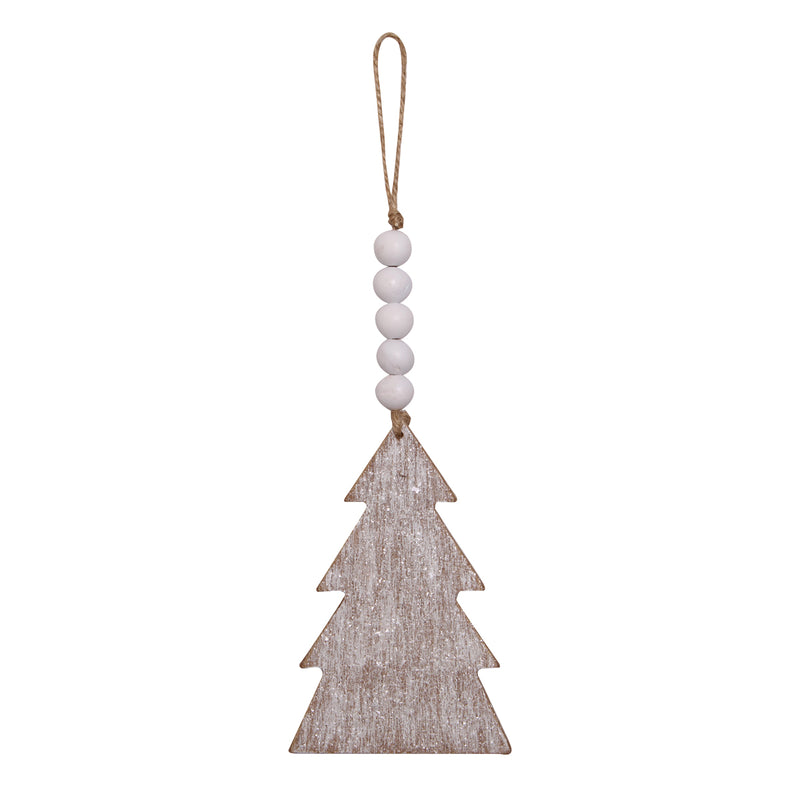 CA-4034 - Wood Tree Beaded Ornie
