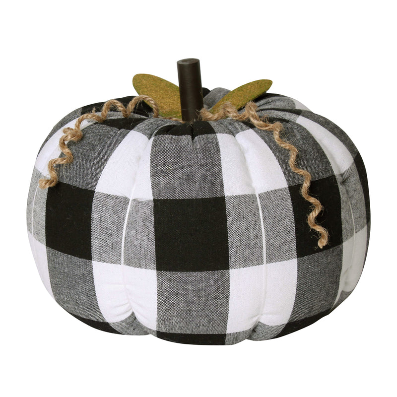 CF-2185 - XL BW Check Fabric Pumpkin